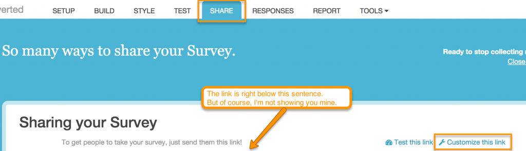 Find your survey link